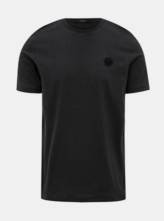 Čierne slim fit tričko Jack & Jones Booker