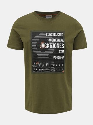 Zelené slim fit tričko Jack & Jones Allas