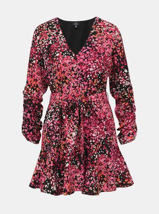 Růžové vzorované šaty Dorothy Perkins