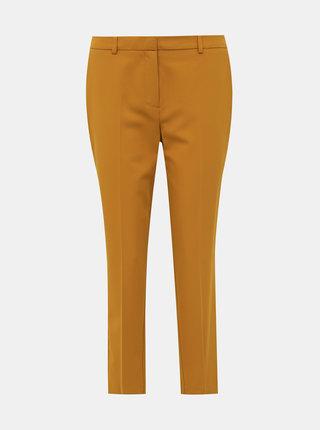 Horčicové skrátené nohavice Dorothy Perkins