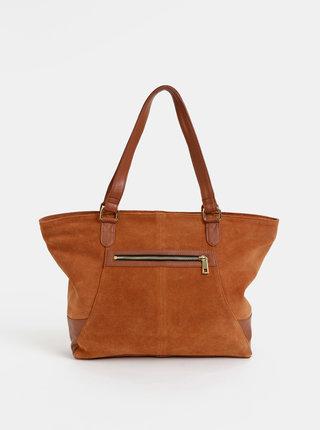 Hnedá semišová kabelka Dorothy Perkins