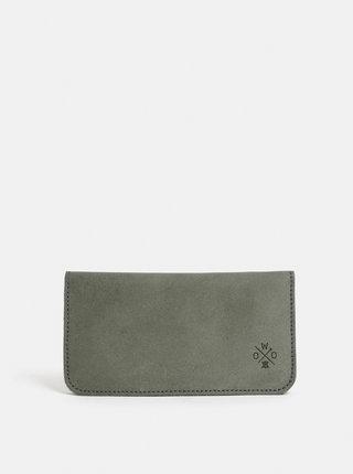 Šedá kožená peněženka WOOX Moneta triviala canua