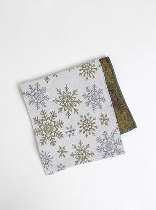 Svetlošedý koberček s vianočným motívom Dakls