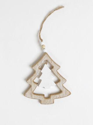 Dřevěná dekorace ve tvaru stromečku Dakls