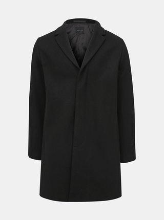 Čierny vlnený kabát Selected Homme Brove