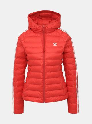Červená dámska prešívaná zimná bunda adidas Originals Slim