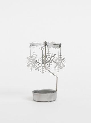 Vánoční dekorace s vločkami ve stříbrné barvě Dakls