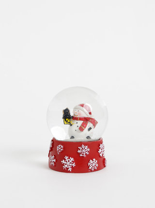 Červené sněžítko s vánočním motivem Dakls