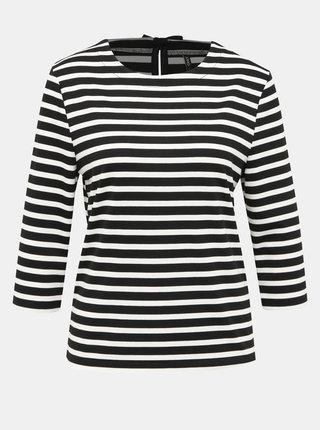 Černo-bílé pruhované tričko ONLY Amanda