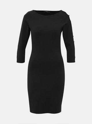 Čierne šaty s priestrihmi ONLY Sigi