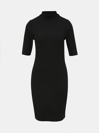 Čierne rebrované šaty ONLY Luna