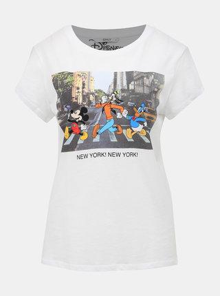 Bílé tričko s potiskem ONLY Disney