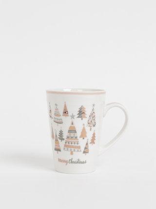 Bílý hrnek s vánočním motivem Dakls