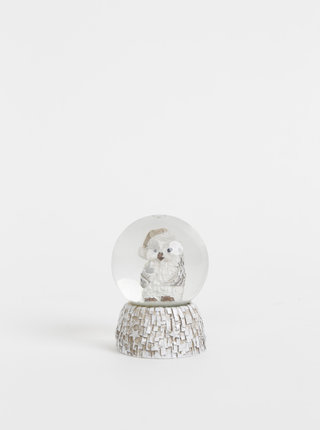 Šedé sněžítko s vánočním motivem Dakls