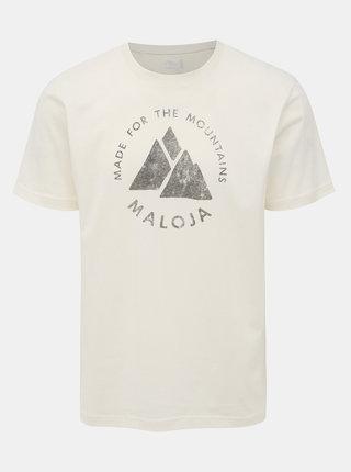 Bílé pánské tričko s potiskem Maloja Neir