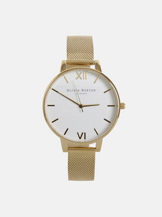 Dámske hodinky s kovovým remienkom v zlatej farbe Olivia Burton
