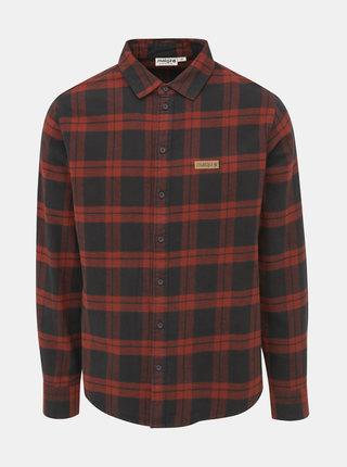 Černo-červená pánská kostkovaná flanelová košile Maloja Saxsee
