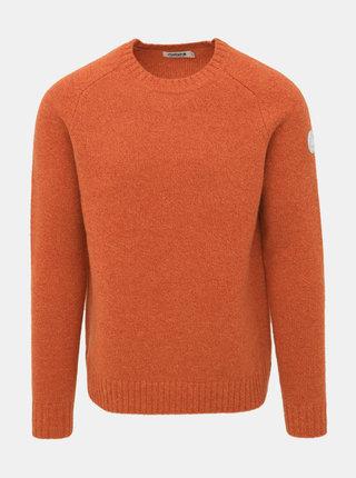 Oranžový pánsky vlnený sveter Maloja Rageth