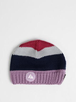 Světle fialová dámská pruhovaná čepice Maloja Bieler