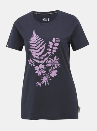 Tmavomodré dámske tričko s potlačou Maloja Severine