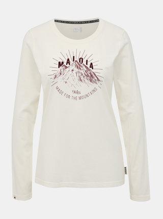 Bílé dámské tričko s potiskem Maloja Franzi