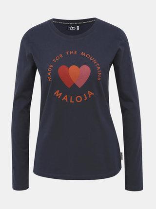 Tmavě modré dámské tričko s potiskem Maloja Fliana