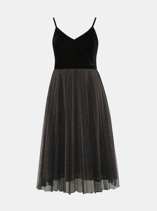 Černo-hnědé třpytivé šaty Dorothy Perkins