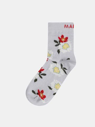 Šedé dámské květované ponožky Maloja Magalie