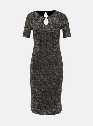 Pouzdrové šaty ve zlato-černé barvě Dorothy Perkins