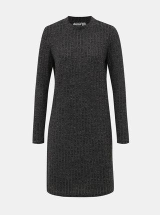 Tmavě šedé svetrové šaty Noisy May Kevin
