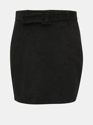 Černá sukně v semišové úpravě  VERO MODA Chili