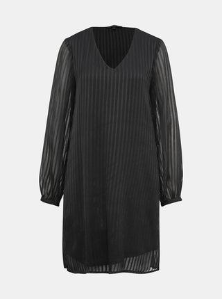 Černé pruhované šaty VERO MODA Doria