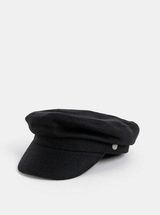 Čierna vlnená kapitánska čapica VERO MODA Yasemin