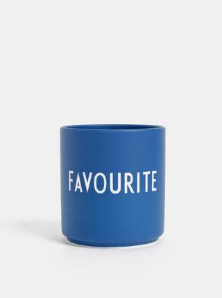Tmavě modrý porcelánový hrnek Design Letters Favourite 300 ml