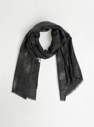 Tmavě šedý třpytivý šátek Pieces Jarina
