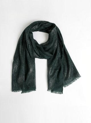 Tmavě zelený třpytivý šátek Pieces Jarina