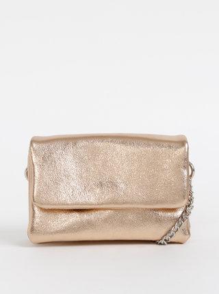Crossbody kabelka v ružovozlatej farbe Pieces Bina