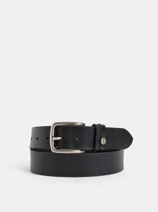 Černý kožený pásek Dice