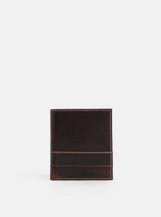 Tmavě hnědá kožená peněženka Dice Moore