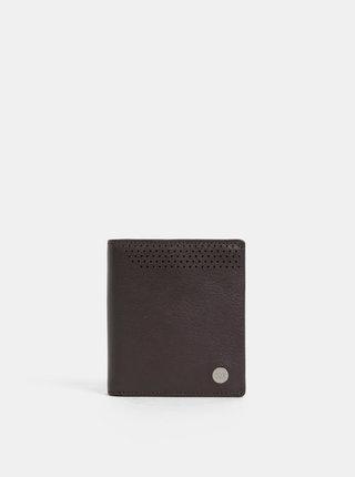 Tmavohnedá kožená peňaženka Dice Westcott