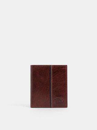 Tmavohnedá kožená peňaženka Dice Vance