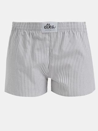 Šedé dámské pruhované trenýrky El.Ka Underwear