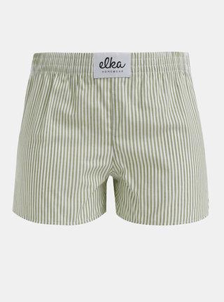 Zelené dámské pruhované trenýrky El.Ka Underwear