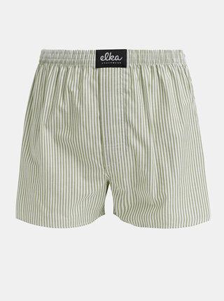 Zelené pánské pruhované trenýrky El.Ka Underwear
