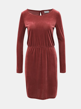 Vínové manšestrové šaty VILA Biana