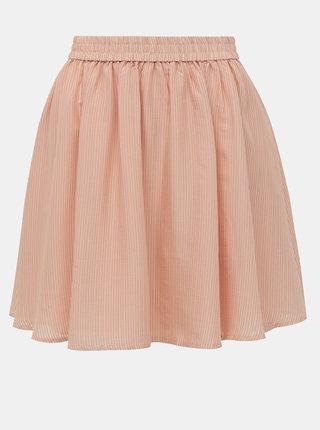 Světle růžová pruhovaná sukně VILA Pace