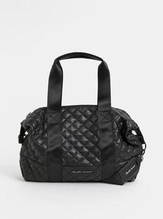 Čierna prešívaná cestovná taška Claudia Canova Hope Zuria