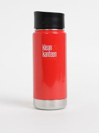 Červený nerezový termohrnček Klean Kanteen 473 ml
