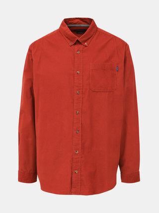 Cihlová manšestrová slim fit košile Jack & Jones Tray