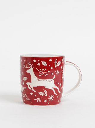 Červený hrnček a vianočným motívom Cooksmart